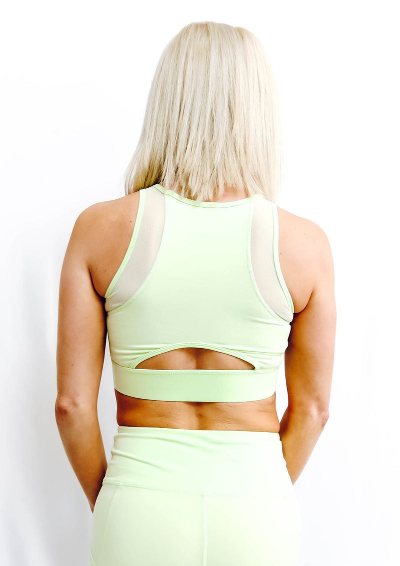 Mesh Lace Front Sports Bra