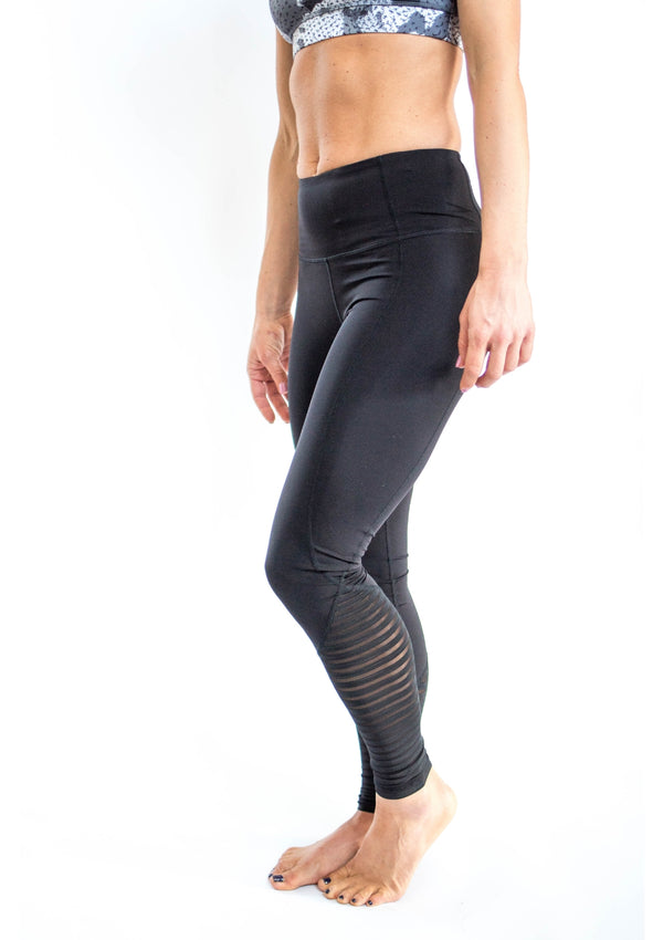 Mesh Contrast Leggings