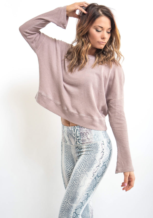 Dusty Pink Thermal Pullover