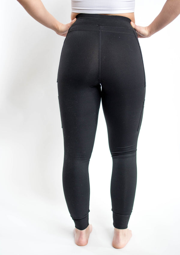 Black Skinny Cargo Hybrid Full Leggings