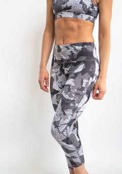 Monochrome Camo Print Leggings