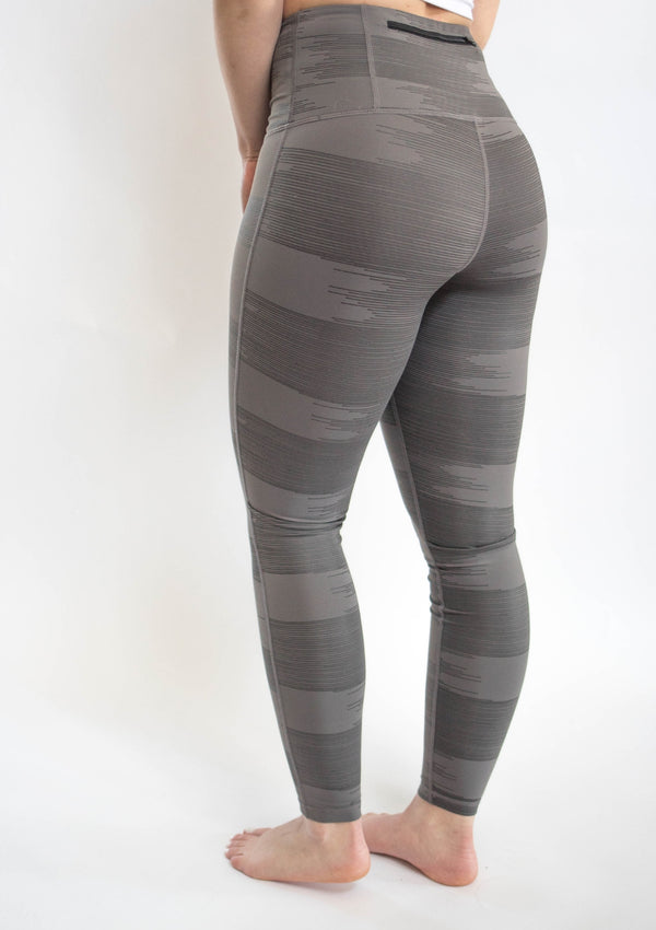 Grey Drawn Lines High Waisted Leggings