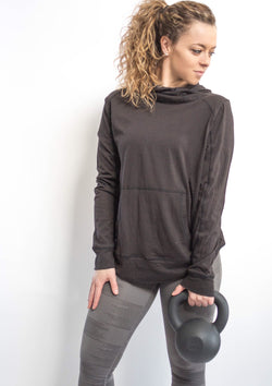 Cut Out Back Hoodie Sweatshirt