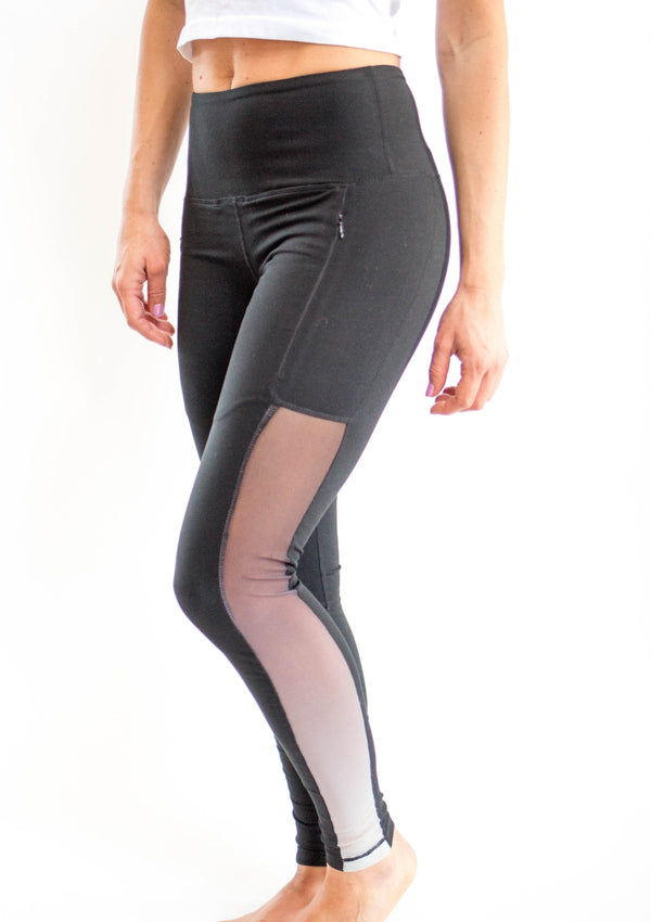 Black Mesh Ombre Legging