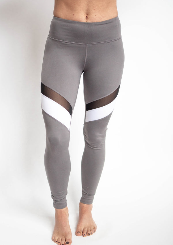 Colorblock Mesh Leggings