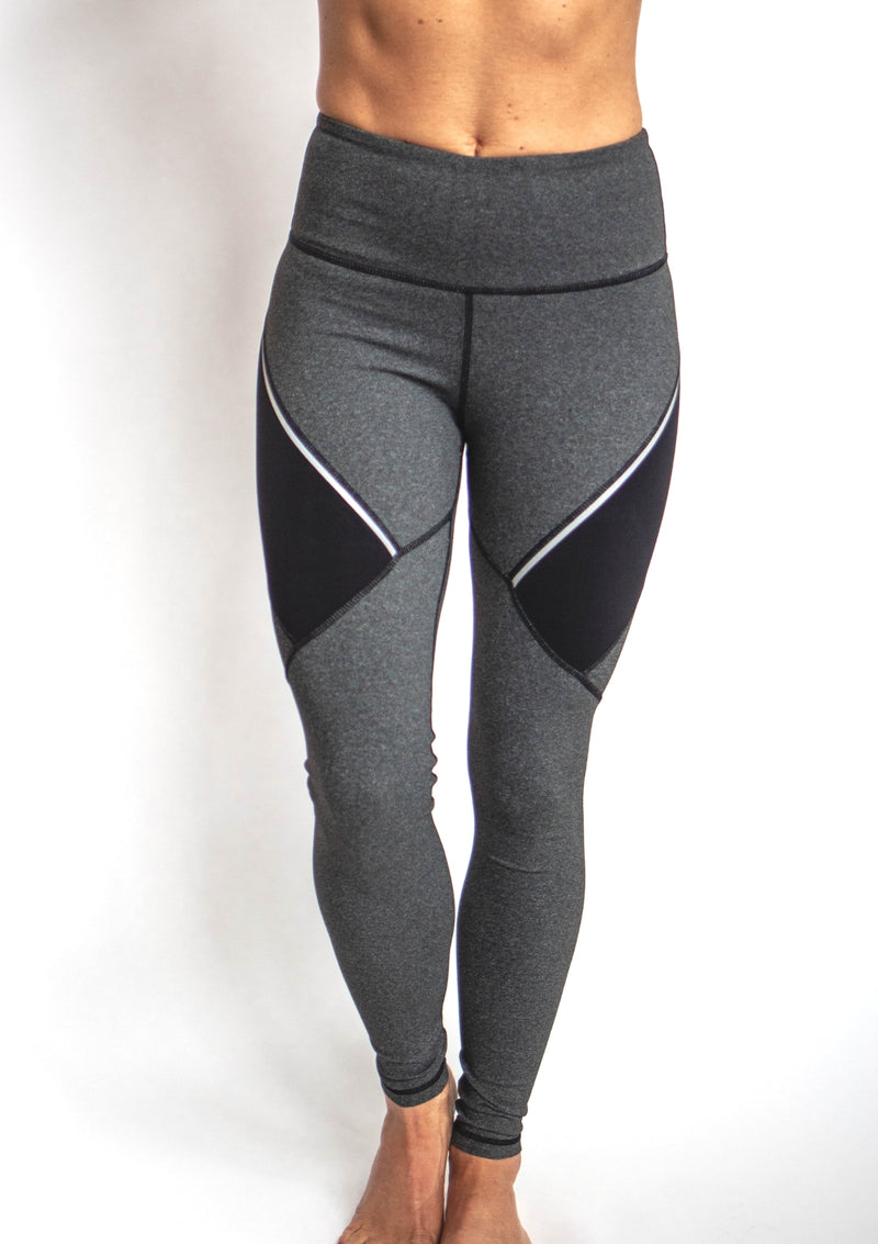 Highwaist Performance Melange Colorblock Contrast Leggings