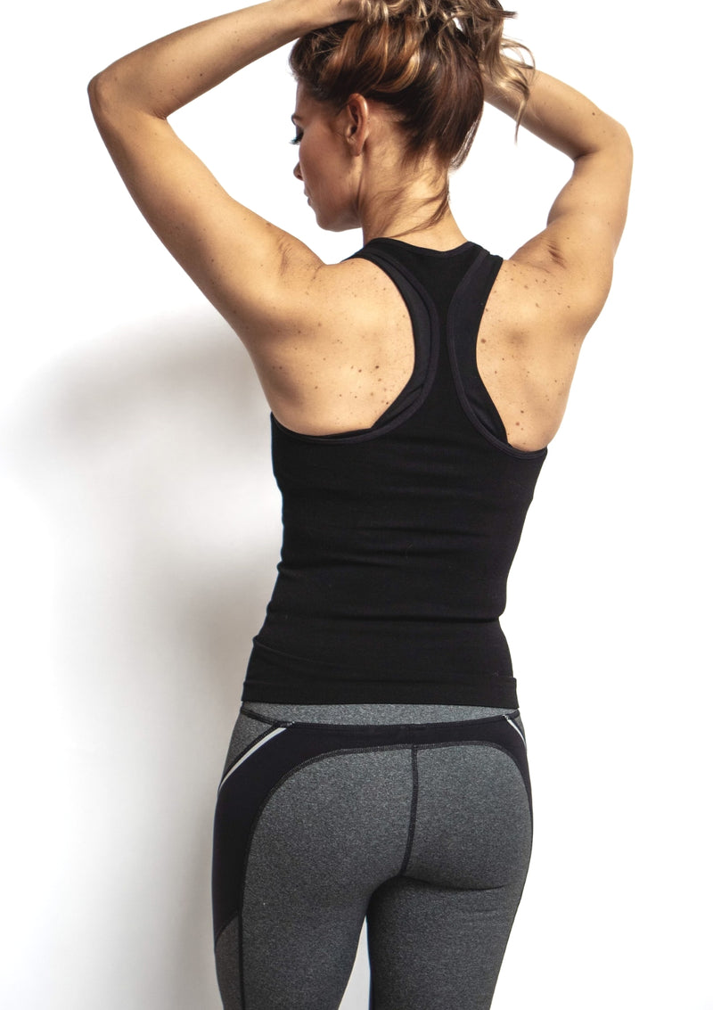 Seamless Ribbed Racerback Tank Top