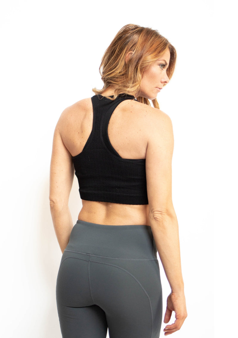 Seamless Racerback Crop Tank Top