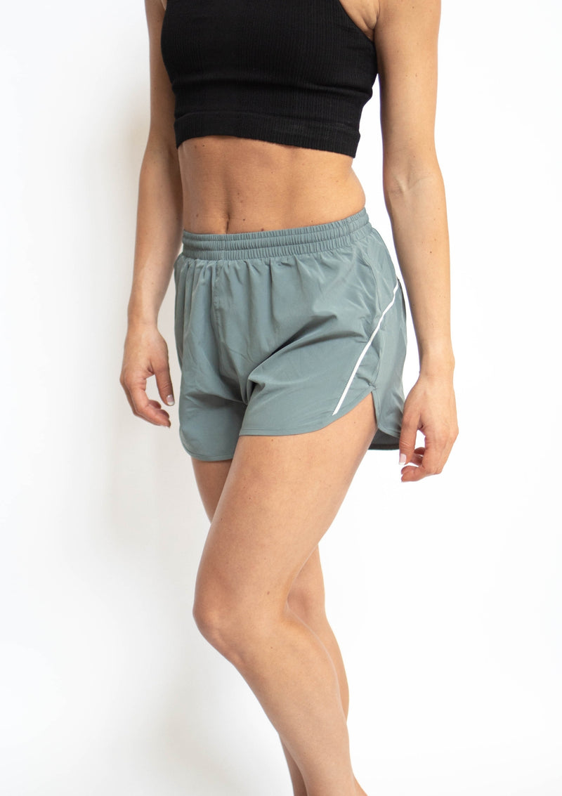Striped Detail Active Dolphin Shorts