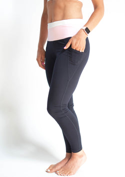 Highwaist Navy Colorblock Leggings