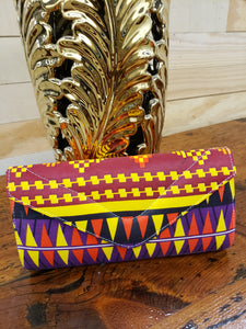 Ankara fabric clutch