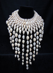 Waterfall cowrie necklace