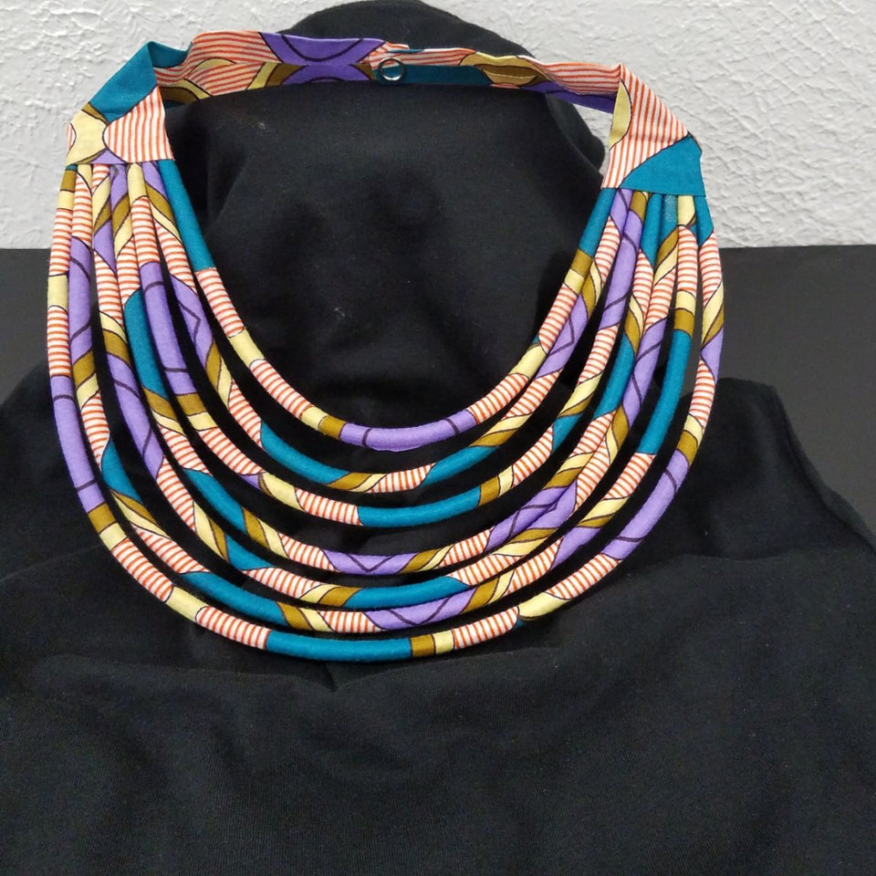 """Tata"" Ankara necklace"