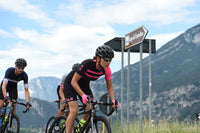 PIUMA WOMEN SHORT SLEEVES JERSEY R-EV1 (BLACK-PINK-FLUO) - Alecycling.co.za