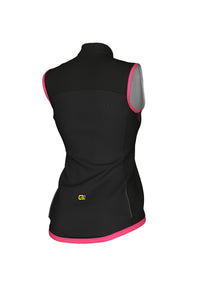 ROAD WOMEN VEST CROSSOVER (BLACK-PINK-FLUO) - Alecycling.co.za