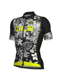 SARTANA MEN SHORT SLEEVE JERSEY FORMULA 1.0 (BLACK-YELLOW-FLUO) - Alecycling.co.za