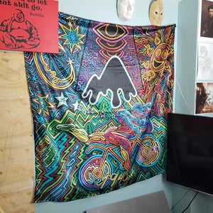 """Bicycle Day"" Tapestry"