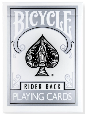 Bicycle® Rider Back Silver