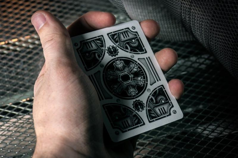 Bicycle® Silver Steam Punk Playing Cards - CARDVOCATE.COM