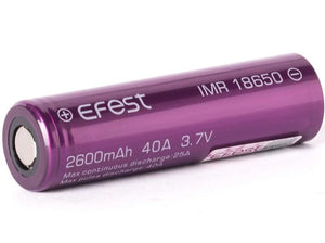 Efest Purple IMR 18650 2600mAh 3.6V - 3.7V (Flat Top)