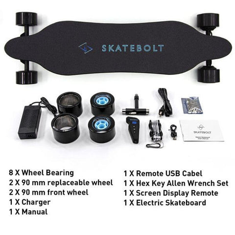 Skatebolt Breeze 2 Electric Skateboard What's In The Box