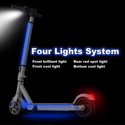 Hiboy S2 Lite Electric Scooter four lights graphic