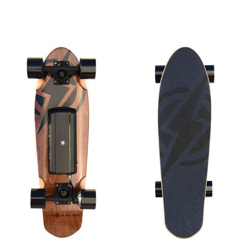 Image of Atom H4 Electric Skateboard front and back board