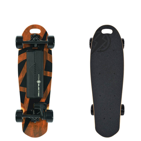 Image of Atom B10 Electric Skateboard front and back board deck
