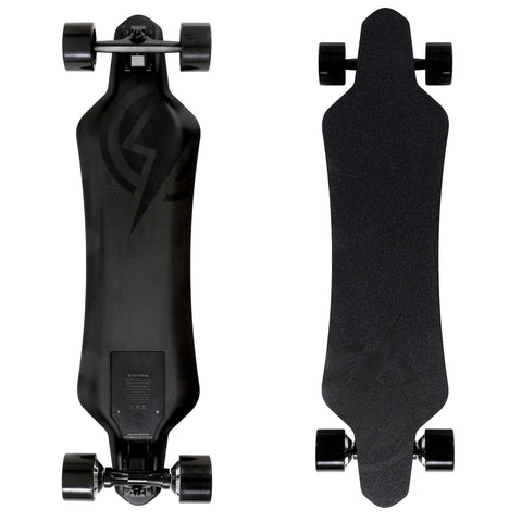 Image of Atom H16D Electric Longboard front and back board deck