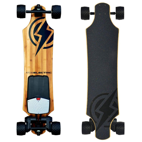 Image of Atom B18-DX Electric Longboard front and back board deck