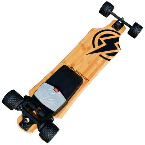 Image of Atom B18-DX Electric Longboard bottom and motor view