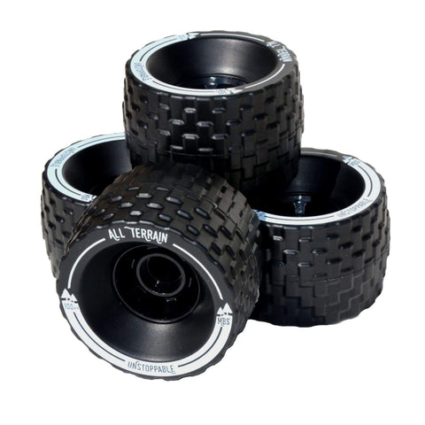 Image of Atom B18-DX Electric Longboard off road wheels