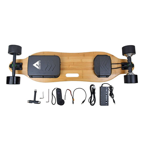 AEBoard AE3 Electric Skateboard whats in the box