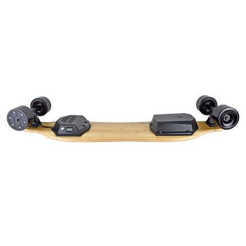 Image of AEBoard G5 Electric Skateboard side upside down view