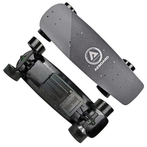 AEBoard AX Mini Electric Penny Board Top And Back View