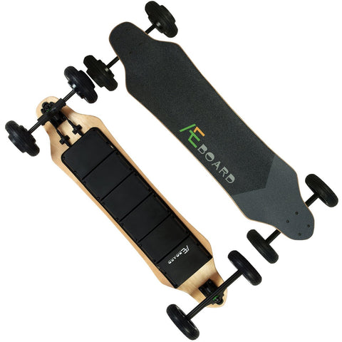 Image of AEboard AE2 All Terrain Electric Skateboard Front and Back