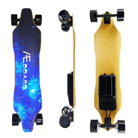 AEboard AF Electric Longboard Side Front and Back