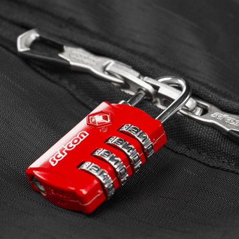 Image of AeroComfort Road 3.0 Bike Travel Case padlock close up
