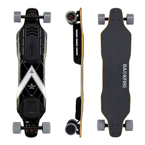 Image of Backfire G3 Electric Skateboard Top Side Back View