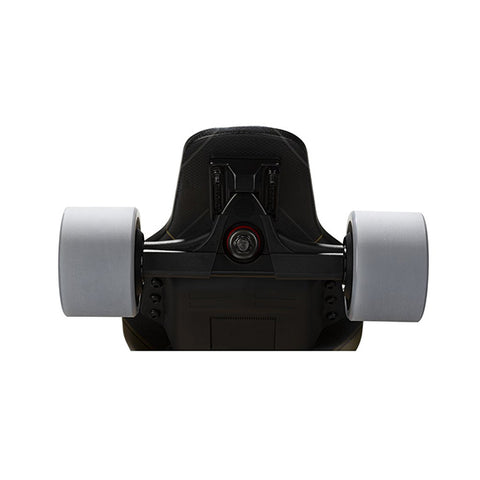 Image of Backfire G3 Plus Carbon Fiber Electric Longboard Back View Wheels