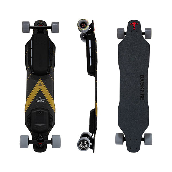 Backfire G3 Plus Carbon Fiber Electric Longboard Top Side Back View