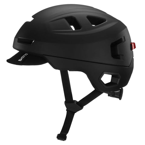 Image of Bern Hudson Helmet black left side