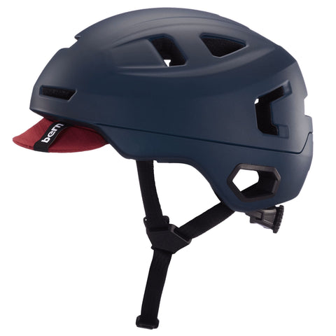 Image of Bern Hudson Helmet blue side