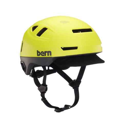 Image of Bern Hudson Helmet yellow front