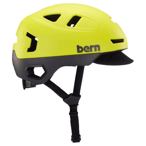 Image of Bern Hudson Helmet yellow side