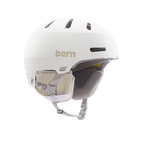 Image of Bern Winter Macon 2.0 Helmet white front angle view