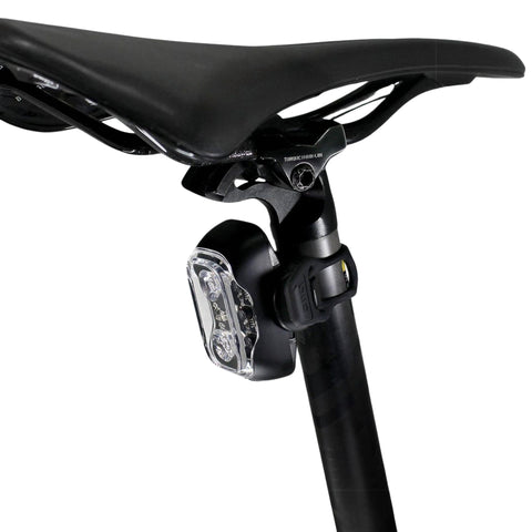 Image of CLIQ Bike Taillight mounted on bike seat post