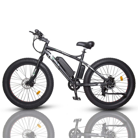ECOTRIC Fat Tire Electric Bike black side angle view