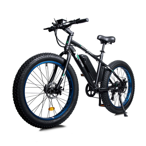 Image of ECOTRIC Fat Tire Electric Bike blue front angle view