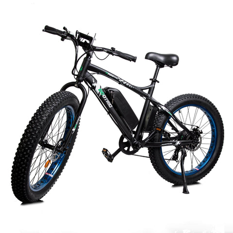 ECOTRIC Fat Tire Electric Bike blue front angle view